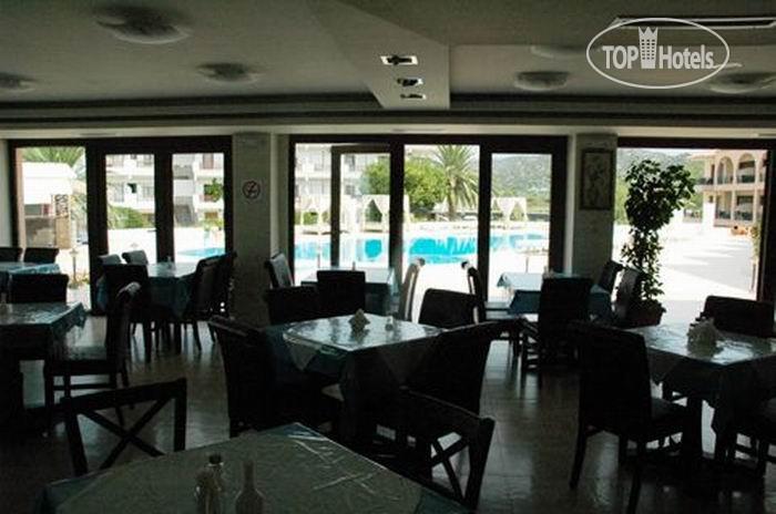 Ресторан в остров Торони у моря