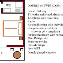 Фото отеля Athena 3* Double  or Twin Room Plan