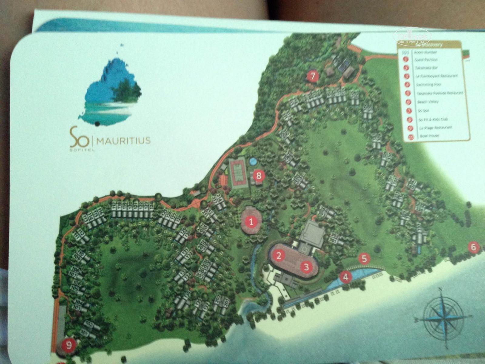 All photos Hotel map Sofitel So Mauritius Bel Ombre 5