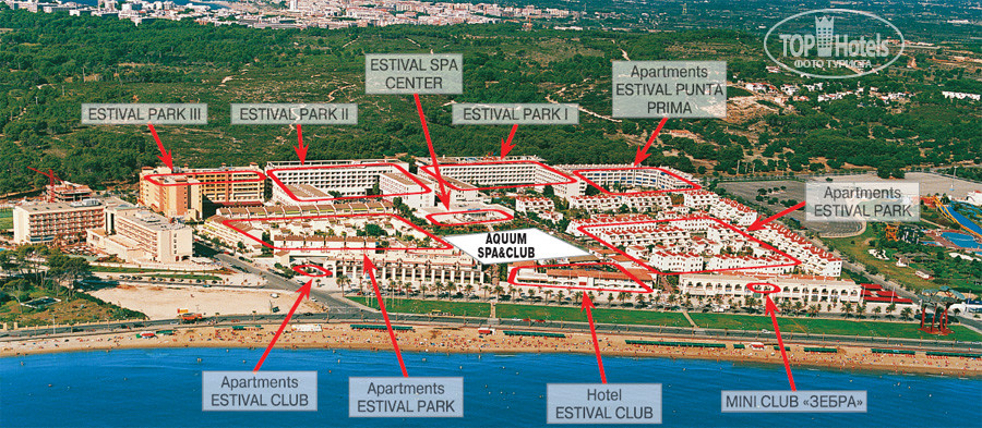 All photos Hotel map Estival Park Salou Hotel 4 Rating of