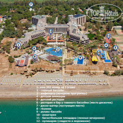 Карта отеля Crystal Tat Beach Golf Resort & Spa