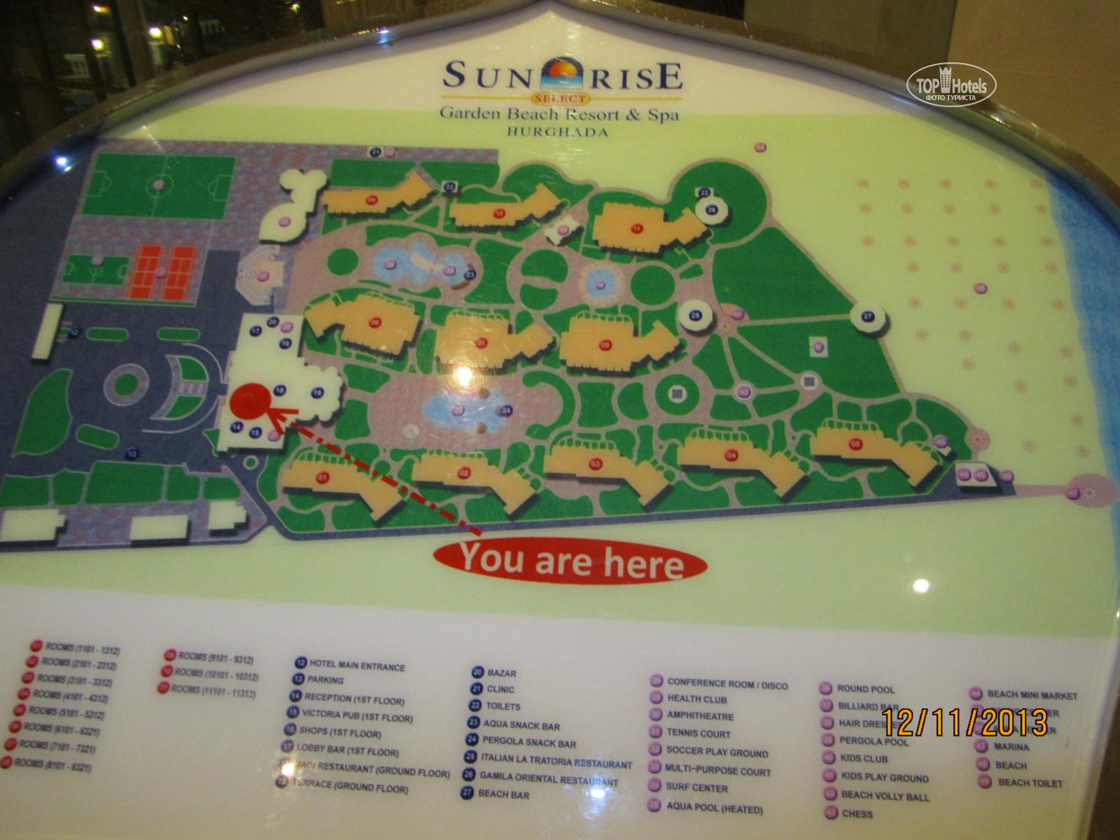 All photos: Hotel map отеля Sunrise Select Garden Beach Resort & Spa ...